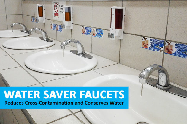 Water saver faucets